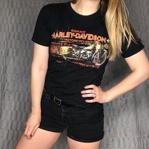Harley Davidson Motorcycles Black Graphic T Shirt